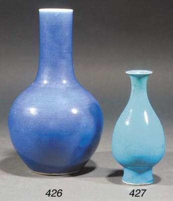 A Chinese powder blue glazed b