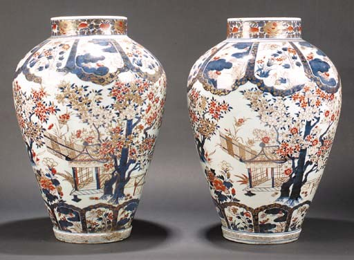 A large pair of Imari tapering