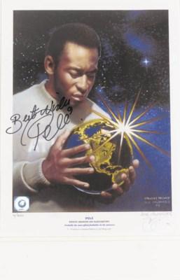 A limited edition print, 'Pelé