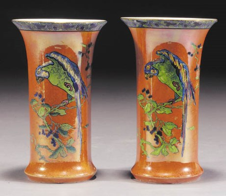 A pair of Carlton Ware vases