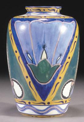 A Carlton Ware Handcraft vase