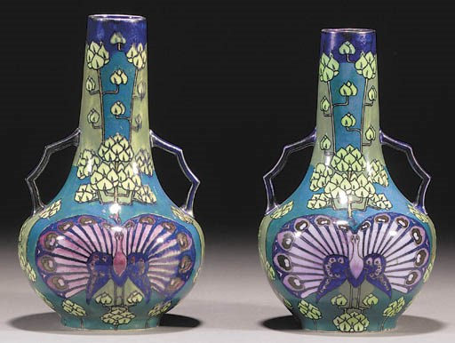 A pair of Lindsay Ware Wedgwoo