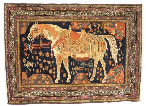 A fine unusual Malayir rug, We