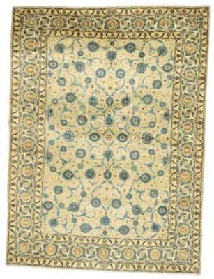 A fine Kavochi Kashan carpet,