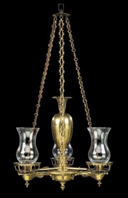 A George IV ormolu three branc