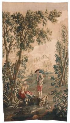 A LOUIS XV AUBUSSON PASTORAL T