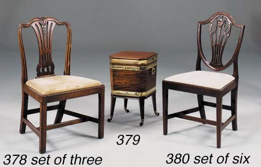 A SET OF THREE GEORGE III MAHO
