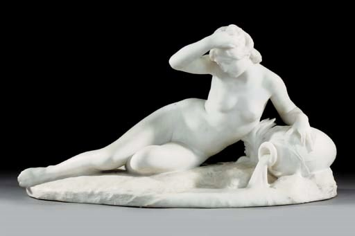 A French sculpted white marble