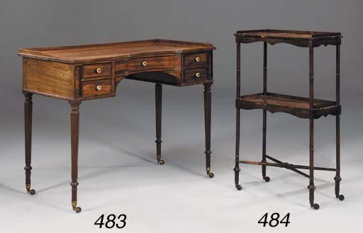 A WILLIAM IV MAHOGANY AND EBON