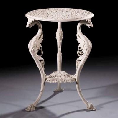 A Coalbrookdale cast iron tabl
