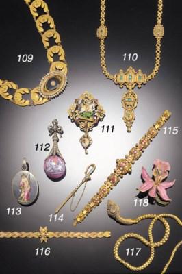 A 19th Century gold, emerald a
