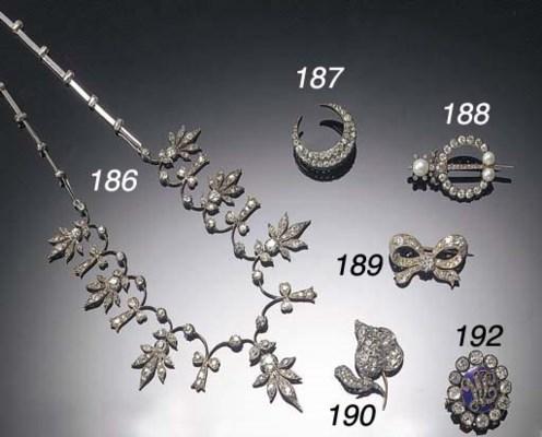 A 19th Century diamond two row