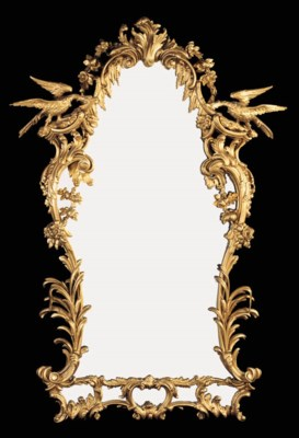 A giltwood mirror, early 20th