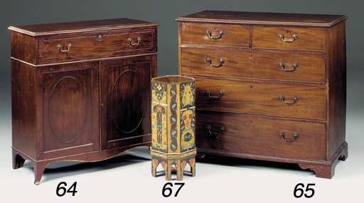 A mahogany side cabinet, 19th