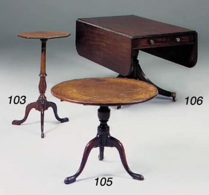 A George III mahogany tripod t