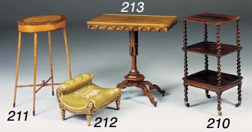 A Victorian rosewood whatnot