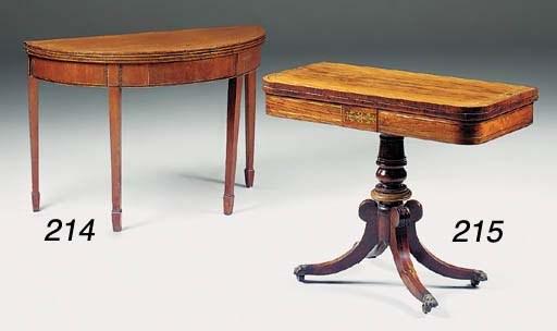 A George III mahogany demi-lun