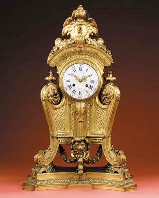 A French large gilt-bronze str
