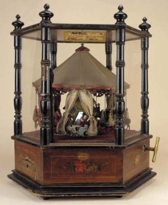 A musical carousel automaton,