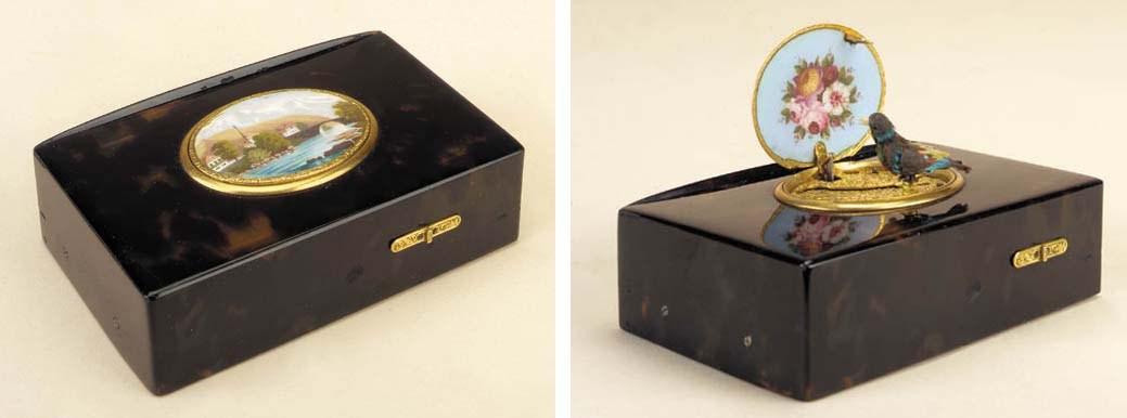 A singing bird box by Rochat,