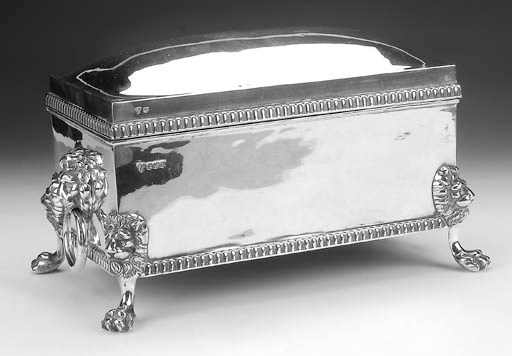 A MODERN SILVER CIGAR BOX