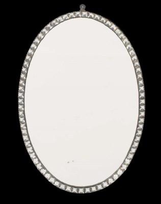 An Irish oval mirror of recent