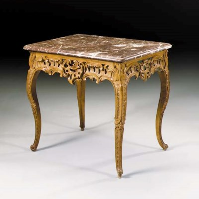 A Louis XV carved beechwood co