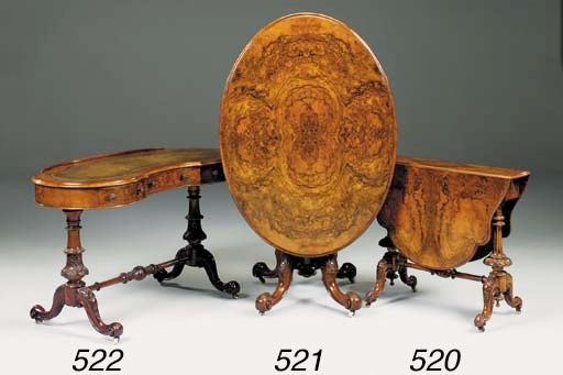 A Victorian burr walnut Suther