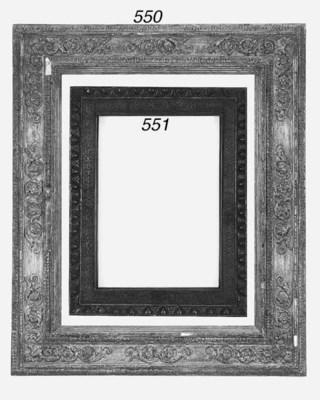A Bolognese carved wood frame,