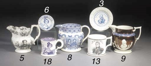 A Staffordshire pottery blue a