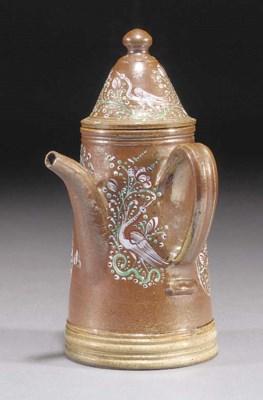 A Staffordshire salt-glazed st