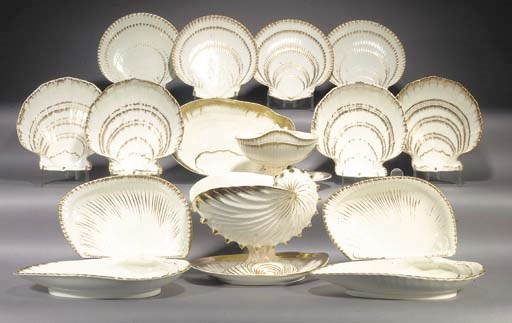 A Wedgwood pearlware nautilus