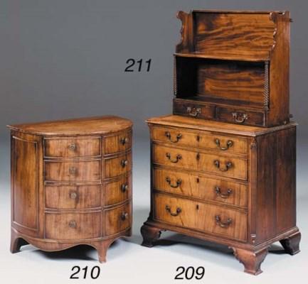 A set of mahogany and rosewood