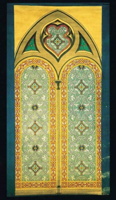 A FRENCH GOTHIC REVIVAL COTTON