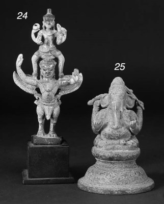 An Indian bronze figure of Gan