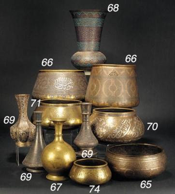 An Indian bronze vase 17th cen