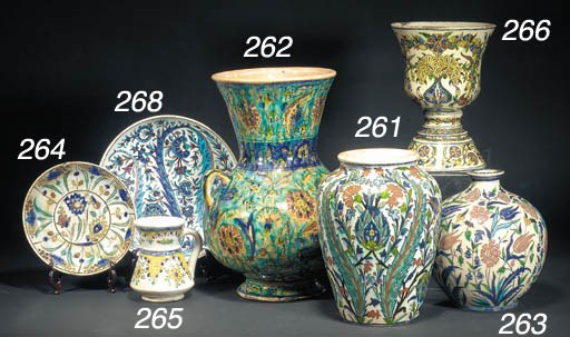 An Iznik style painted pottery