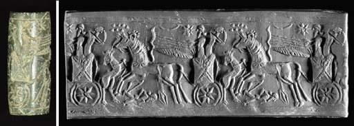 A NEO-ASSYRIAN BLACK STONE CYL