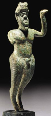 A GREEK BRONZE FIGURE OF ITHYP