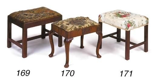 A walnut stool