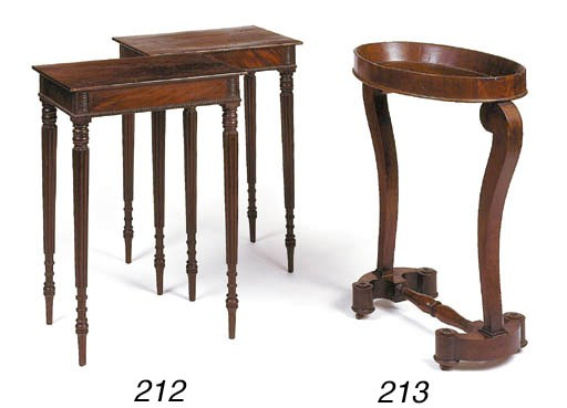 A pair of George IV mahogany o