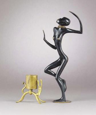 A Hagenauer patinated bronze f