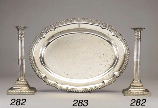 A PAIR OF GEORGE III SILVER TA