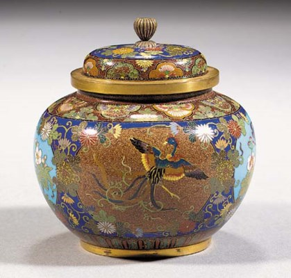 A cloisonne jar and cover 19th