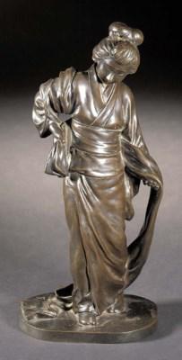 A Tokyo School bronze model of