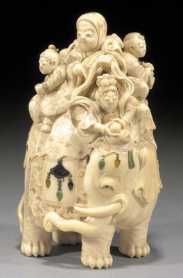 An ivory okimono 19th century