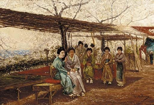 Mikuni, oil on canvas Late 19t