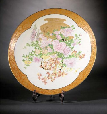 A large Imari charger 19th Cen