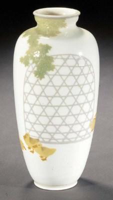 A Satsuma baluster vase 19th C