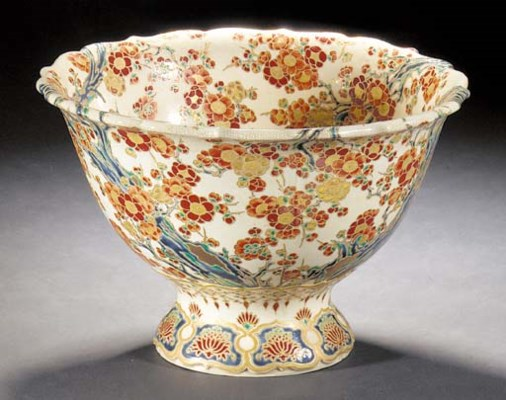 A large Imperial stem bowl 19t